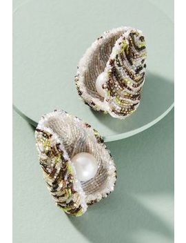 Oyster Drop Earrings by Anthropologie