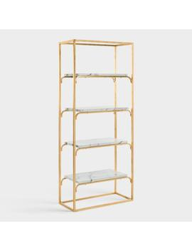 Gold And Marble Marleau Etagere Shelf by World Market