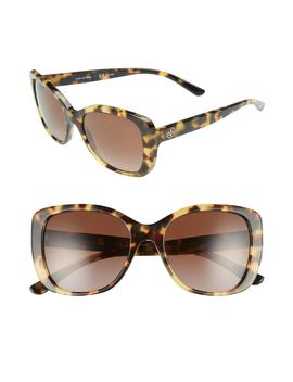 53mm Polarized Rectangle Sunglasses by Tory Burch