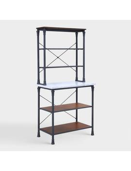 Metal And Marble Ondre Bakers Rack by World Market