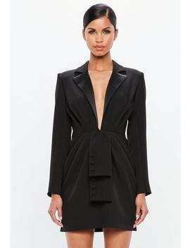 Black Tuxedo Blazer Dress by Missguided
