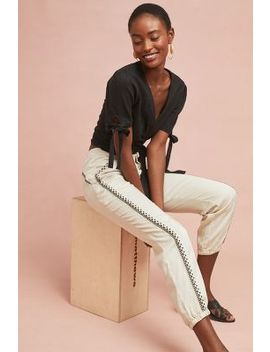 Cedar Embroidered Joggers by Anthropologie