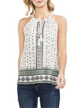 Halter Style Print Top by Vince Camuto