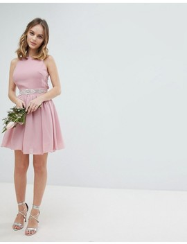 Tfnc Petite Embellished Midi Bridesmaid Dress With Full Prom Skirt by Tfnc