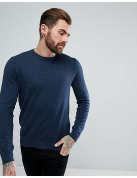 Asos Cotton Jumper In Navy by Asos Design