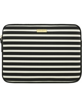 """Sleeve For 13"""" Apple® Mac Book®   Fairmont Square Black/Cream by Kate Spade New York"""