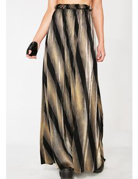 Golden Dimensional Barbarian Skirt by K Too
