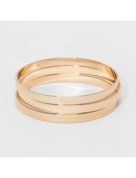 Bangle Bracelet 3pc   A New Day™ Gold by A New Day™