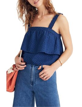 Indigo Ruffle Strap Tier Top by Madewell