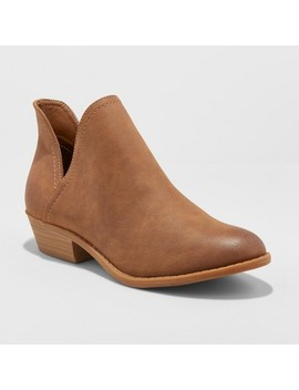 Women's Nora V Cut Ankle Booties   Universal Thread™ by Universal Thread™