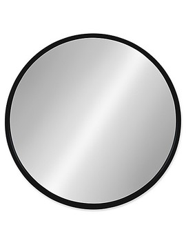 Kate And Laurel Travis 21.6 Inch Round Wood Mirror In Black by Bed Bath And Beyond