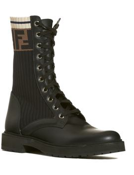 Rockoko Chelsea Sock Combat Boot by Fendi