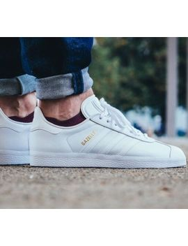 🔥 Adidas Originals Gazelle White Gold 11.5 Leather Stan Smith Laver Og Busenitz by Adidas