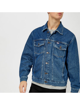 Tommy Jeans Men's Classic Denim Jacket   Mid Blue Rigid by The Hut
