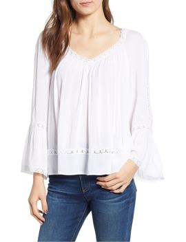 Denice Lace Trim Top by Rebecca Minkoff