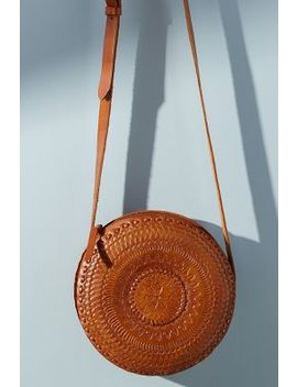 Embossed Leather Circle Bag by Anthropologie