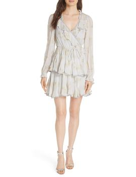 Lurex® Butterfly Wrap Dress by Needle & Thread