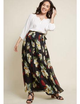 Artful Endeavor Chiffon Maxi Skirt by Modcloth