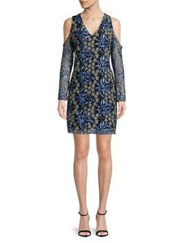 Floral Embroidered Mesh Dress by Sam Edelman