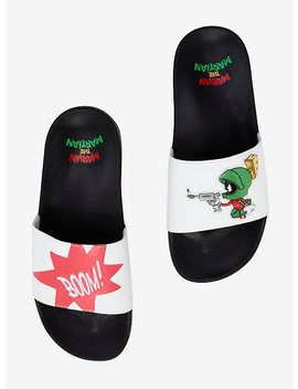 Looney Tunes Marvin The Martian Slide Sandals by Hot Topic