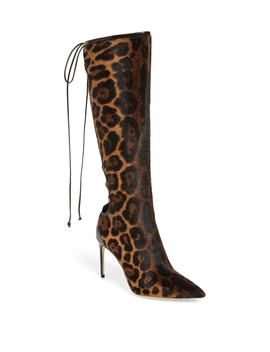 Vixen Lace Up Genuine Calf Hair Boot by Brian Atwood