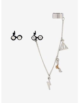 Harry Potter Stud & Ear Cuff Set by Hot Topic