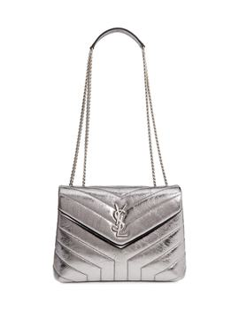 Small Loulou Metallic Leather Shoulder Bag by Saint Laurent