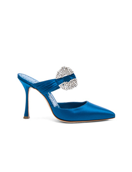 Satin Maidugur 90 Heel by Manolo Blahnik