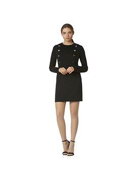 Avec Les Filles Joyce Azria Nautical Dress With Buttons (Black) by Avec+Les+Filles