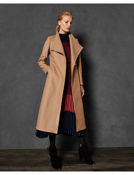 Midi Wool Wrap Coat by Ted Baker