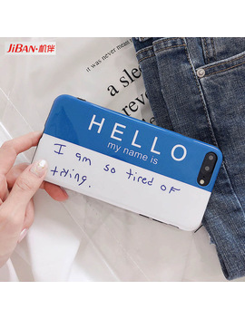 Jiban Korean Style Self Introduction Letters Phone Case For I Phone 7plus Mobile Phone Shell For Iphone X 6 6s 6plus 8 Back Cover by Apple I Phones