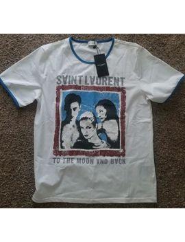 "Authentic Saint Laurent Ysl ""To The Moon And Back"" T Shirt Size L by Saint Laurent"