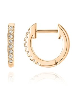 Pavoi 14 K Gold Plated Sterling Silver Post Cubic Zirconia Cuff Earrings Huggie Stud by Pavoi