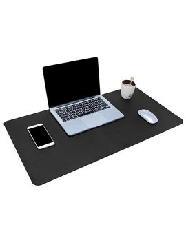 """Multifunctional Office Desk Pad, 31.5"""" X 15.7"""" Ysa Gi Ultra Thin Waterproof Pu Leather Mouse Pad, Dual Use Desk Writing Mat For Office/Home (Black) by Ysa Gi"""