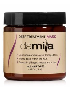 Deep Treatment Mask, Hair Rejuvenating Mask   Hydrolyzed Keratin To Strengthen And Moisturize   Conditions Damaged Hair Treatment By Damila (4 Oz) by Damila