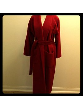 Vintage Anne Klein Wool/Cashagora/Angora/Cashmere Long Trench M by Etsy