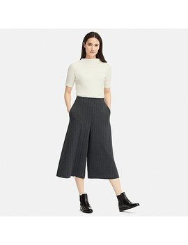 Women Ponte Flare Cropped Pants by Uniqlo