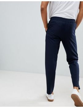 Selected Homme Pants With Elasticated Waistband In Tapered Fit by Selected Homme