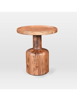 Turned Wood Side Table by West Elm