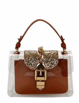 Transparent Pvc Bag With Inner Clutch by Romwe