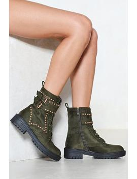 Toughen Up Faux Suede Boot by Nasty Gal