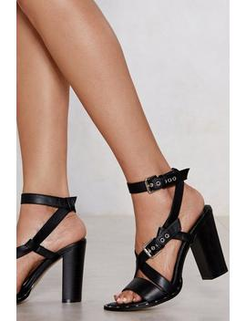 Buckle Up Heel Sandals by Nasty Gal