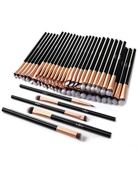 50pcs Eye Makeup Brush   Anjou 5pcs Eye Makeup Brushes X 10 Set – 2 Eye Blending Brush, 2 Eyeshadow Brush, 1 Eyeliner Brush Included In Each Set – 5 Essential Eye Brushes For... by Anjou