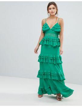 Boohoo Tiered Ruffle Maxi Dress by Boohoo