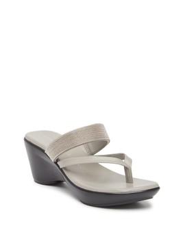 Beverli Beaded Slide Sandal by Athena Alexander