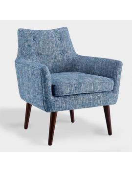 Blue Tweed Thompson Upholstered Armchair by World Market