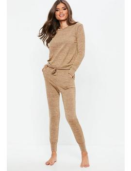 Brown Loungewear Tracksuit Set by Missguided