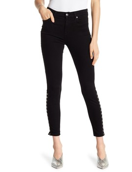 High Waist Hook And Eye Side Skinny Jeans by 7 For All Mankind