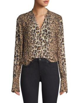 Tariana Leopard Print Blouse by Joie