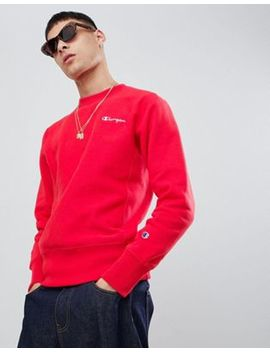 Champion Sweatshirt With Back Logo In Red by Champion